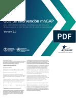 MhGAP 2016 Español
