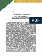 El Nuevo Código Penal Peruano