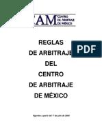 Reglamento de Arbitraje Del CAM 333333