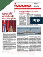 Diario Granma 12 de junio de 2018.