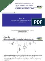 15245093835ade2ac7d71b7-Aula 05 - Conv. Eletromecanica I - Geradores CC - Auto-excitados.ppt