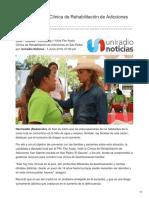 Visita Flor Ayala clínica de rehabilitación de adicciones en San Pedro