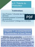Partie II Theorie Du Producteur