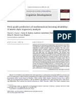 First Grade Predictors of Mathematical Learning Disability 2009