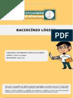 Dpu Pos Edital Raciocinio Logico Todos Os Cargos Aula 2
