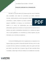 Ensayo - Funcion Del Mercadeo en La Organizaciones