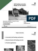 Self Healing Concrete Corbion Purac TU Delft