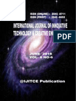 June 2018 ijitce.co.uk International Journal of Innovative Technology and Creative Engineering