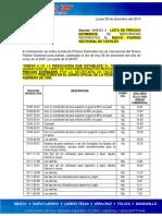 BoletinPascal 29dic2014 Lista PreciosEstimados Anexo 4 PadronSectorial Textiles