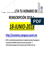 Consulta Tu Horario de Inscripcón 2019-1