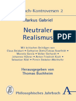 Buchheim, Thomas_ Gabriel, Markus - Neutraler Realismus _ Jahrbuch-Kontroversen 2. (2017, Verlag Karl Alber)