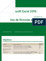 Excel Core 2016 Lesson 10