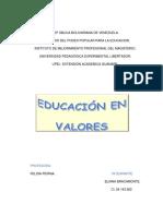 Los Valores en Educacion