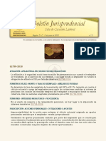 Boletín Jurisprudencial No 5 de 2018 - Sala de Casación Laboral