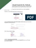 Cara Setting Email Gmail di Ms.doc