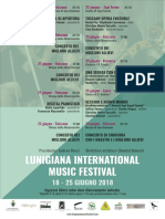 Locandina Lunigiana International Music Festival