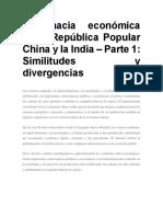 Diplomacia Económica de La República Popular China y La India