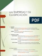 Las Empresas y Su Clasificación