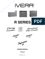 Manual Rivera Amps R-SeriesV1.0