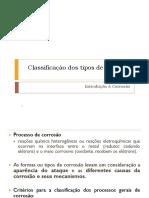 Classificação Dos Tipos de Corrosão