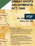 The Bombay Shops & Establishment Act, 1948