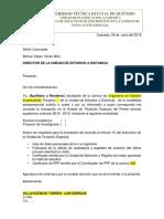 Anexo 1 Formato de Solicitud Para Inscripcion en La Unidad de Titulación Especial