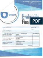 Editorial Mateo Sexto Grado Evaluacion Final