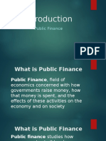 Introduction to Public Finance Ppt