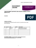 10 Audit and Management Review Procedure FINAL