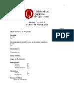 UNQui - Cursos de Posgrado - Formulario Inscripción