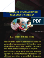 Tema 5 Normas de Instalacion de Aparatos y Tuberias