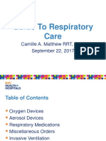 Respiratory Medical Residents Presentation