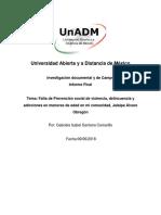 Universidad Abierta y a Distancia de México Trabajo Final Unidad 3