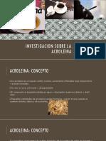 Investigacion Sobre La Acroleina