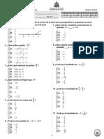 Prueba Diagnóstica 8º Matemáticas (2011)