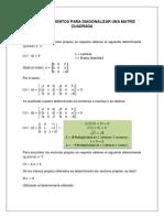 7.04 Procedimientos Para Diagonalizar Una Matriz Cuadrada