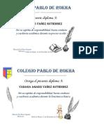 diploma de excelencia académica 8°