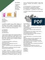 Exercícios Sobre BACTÉRIAS 7º Ano Ciências Fundamental
