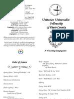 Order of Service June 10 2018
