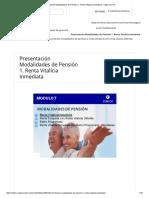 Presentación Modalidades de Pensión 1-RENTA VITALICIA INMEDIATA