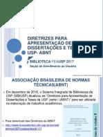 Abnt - 2017 Biblioteca Fea USP - Apresentacao