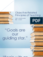 Objective-related Principles of Teaching