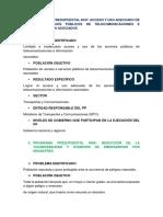 Programa Presupuestal Presentar