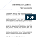 DETERMINAR LOS COSTOS ECONÓMICOS QUE SE REGISTRAN EN LA TRANSFORMACIÓN DE UN PRODUCTO EN DOS PROCESOS DISTINTOS
