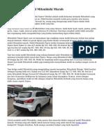 Trik Membeli Mobil Mitsubishi Murah