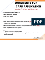 Requirements for Library Card Application