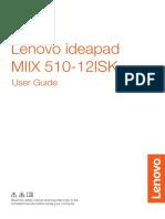 Lenovo Miix 510 Manual