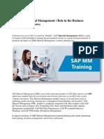 SAP Material Management