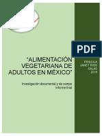 Proyect Alimentación Vegetariana de Adultos en México1
