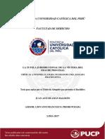 Astuhuaman Baldeon La Tutela Jurisdiccional de La Victima Del Fraude Procesal